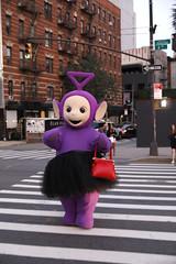 Teletubbies' Icon Tinky Winky Takes Over New York Fashion Week