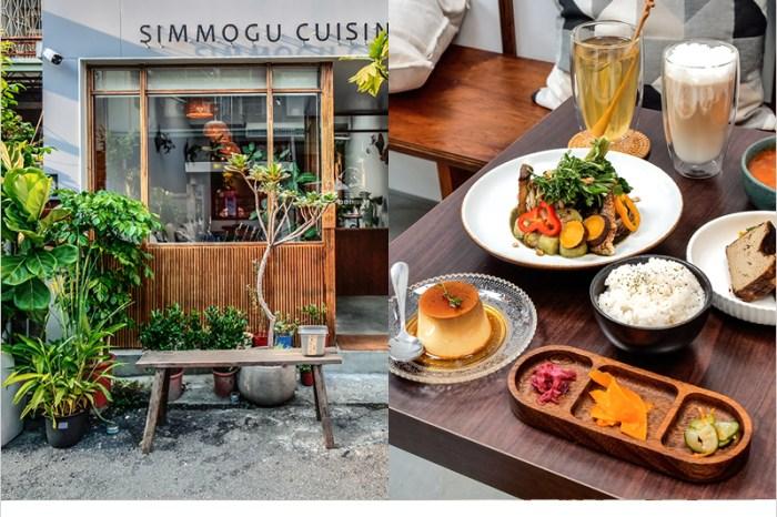 溪木 | 台中西區精誠商圈裡的創意料理餐廳,綠意結合木質調裝潢清新又舒適。