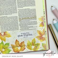 1 Thessalonians 5:18 Bible Journaling Art