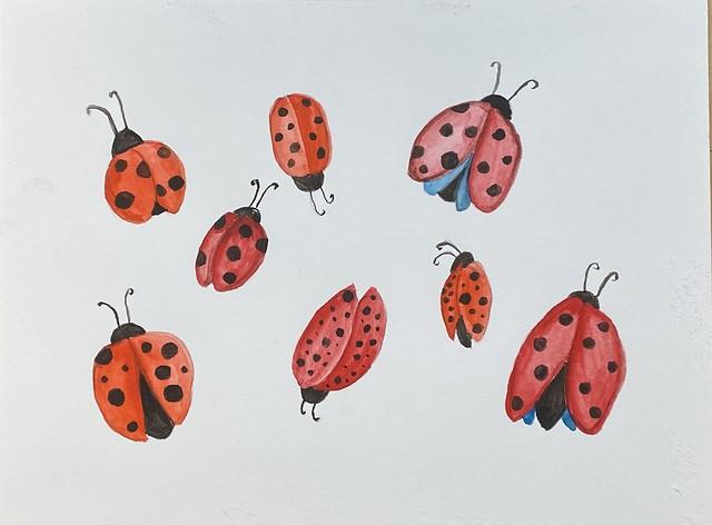 Ladies in red #ladybugs