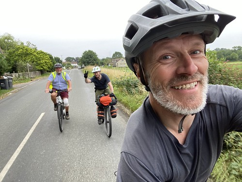 Riding with Chris's dad
