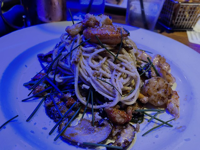 Lobster Garlic Noodles at the Yard House