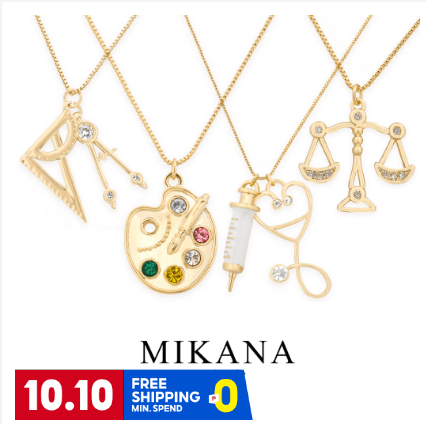 Mikana 18K Gold-Plated Necklace