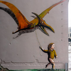 Pterodactyl take for fly graffiti