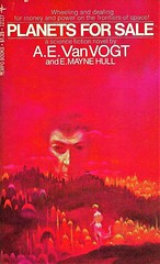 PLANETS FOR SALE by A.E.Van Vogt and E.Mayne Hull. Tempo Books (1970). 184 pages.