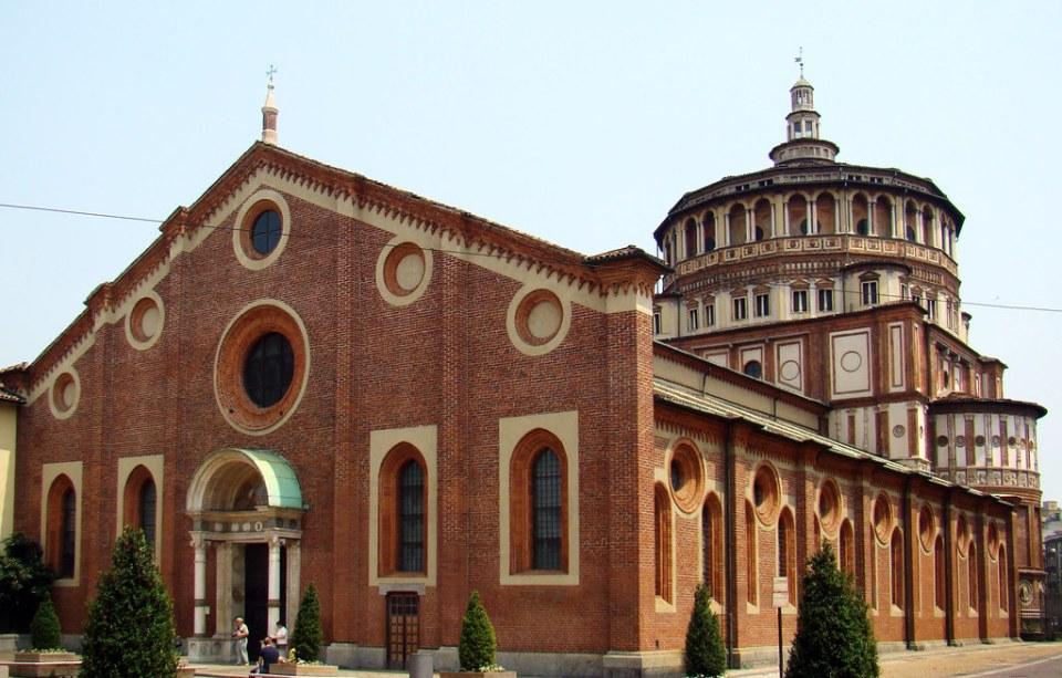 Iglesia de Santa María de las Gracias Milan Italia 02