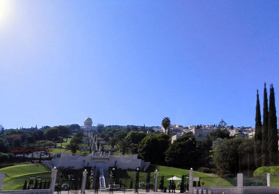 Haifa Santuario de Bad y jardines Bahaí Israel 03