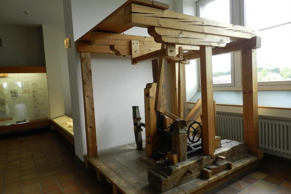 guillotina de Papel imprenta Museo Alemán Munich Alemania 01