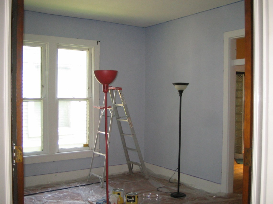 Dining room with first coat
