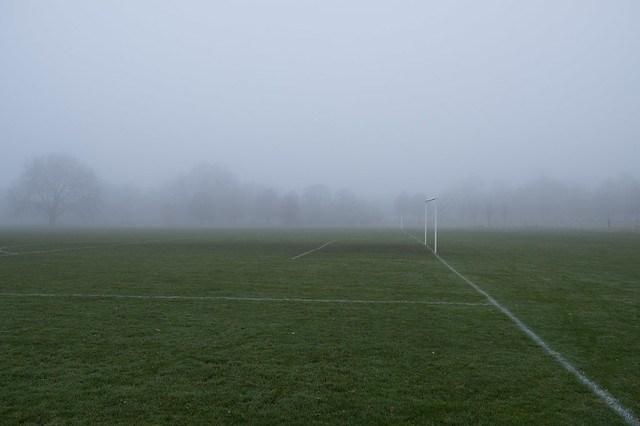 Regent's Park in Fog. London.