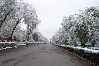 Early snow in Kyrgyzstan