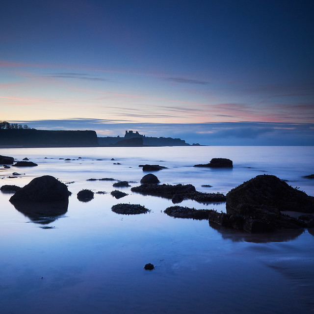 Tantallon Castle from Seacliff Beach
