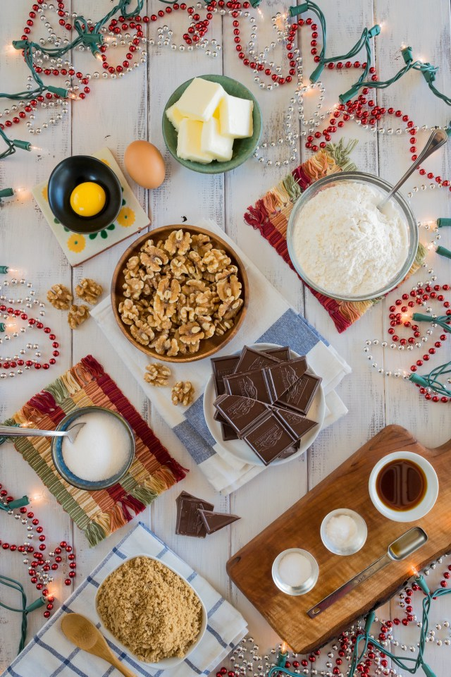a festive table filled with sweet ingredients