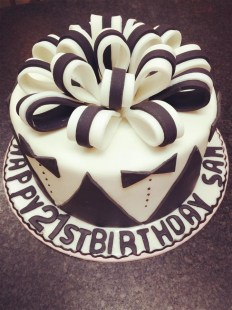 21st simple birthday cake