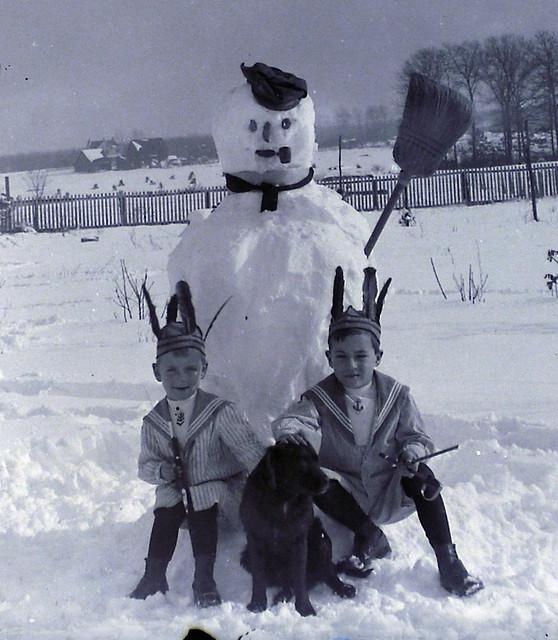 Frosty, The Boys & a Dog - detail