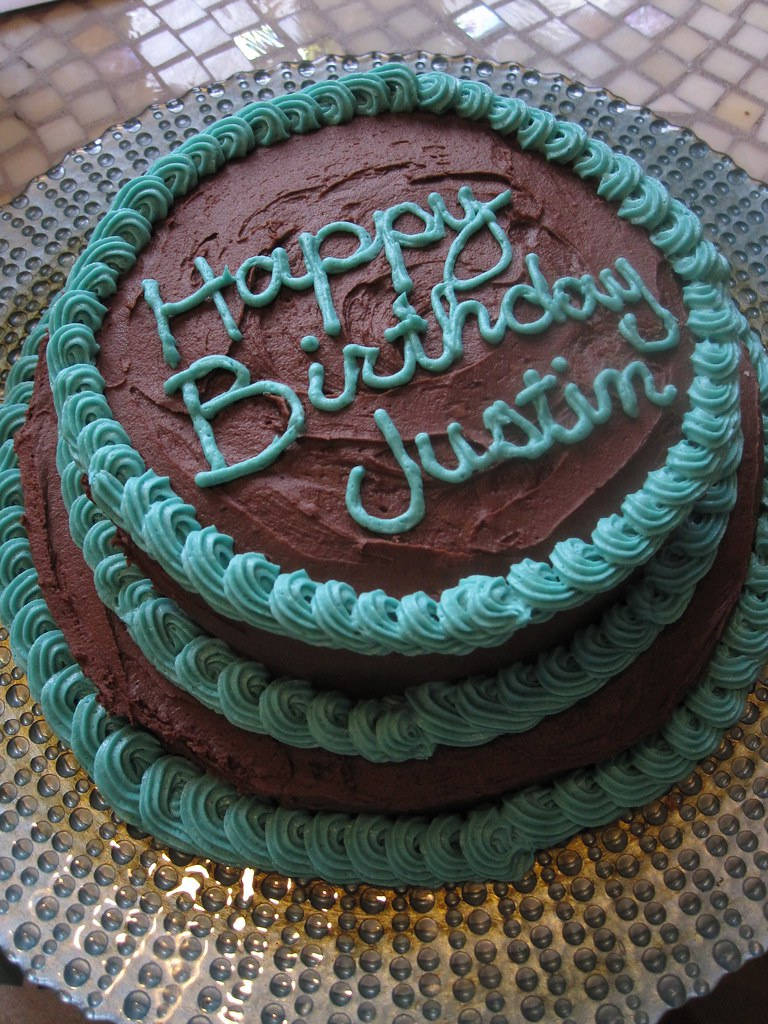 Happy Birthday Justin A Simple Birthday Cake Fudge With