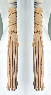 buckskin native american hair wraps