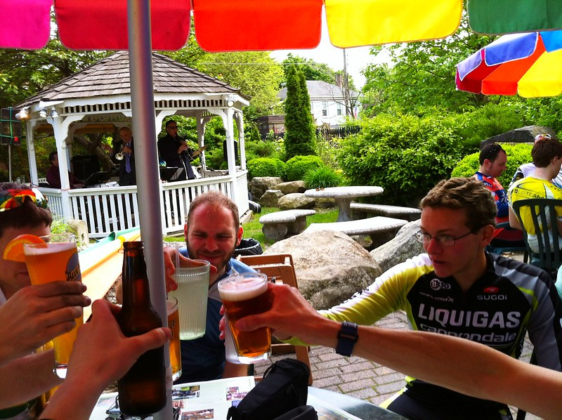 Drinks @ Cold Spring Depot after 65 mile bike w/ @michaelkras