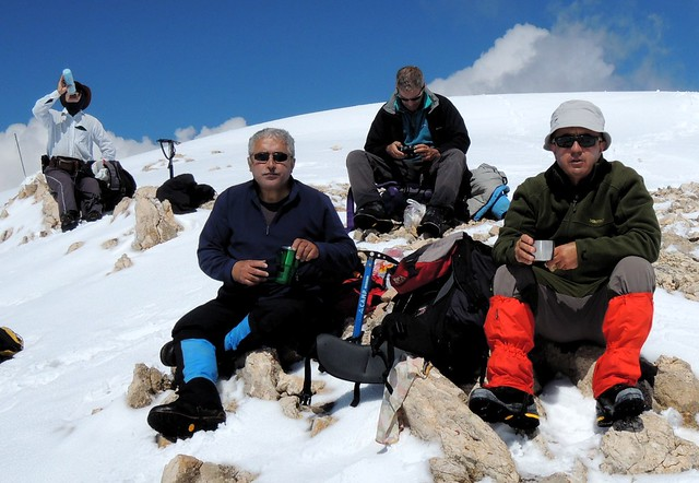 Dave, Cemalettin, Terry, Ahmet -- on the summit by bryandkeith on flickr