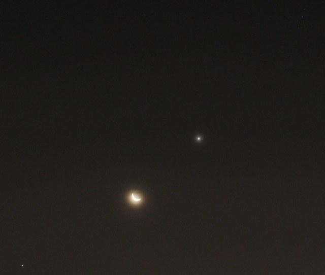 Jupiter Bulan Sabit Venus Pleiades Conanholmes Flickr