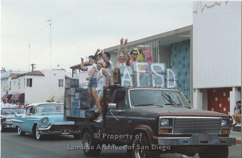P001.041m.r Pride 1991: AIDS Foundation San Diego Parade Float