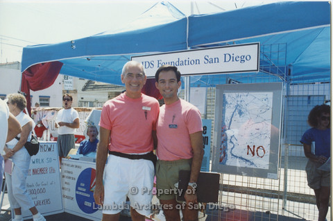 P001.106m.r.t AIDS Foundation San Diego (from left to right: Dr Bill Crawford and Peter Cooper)