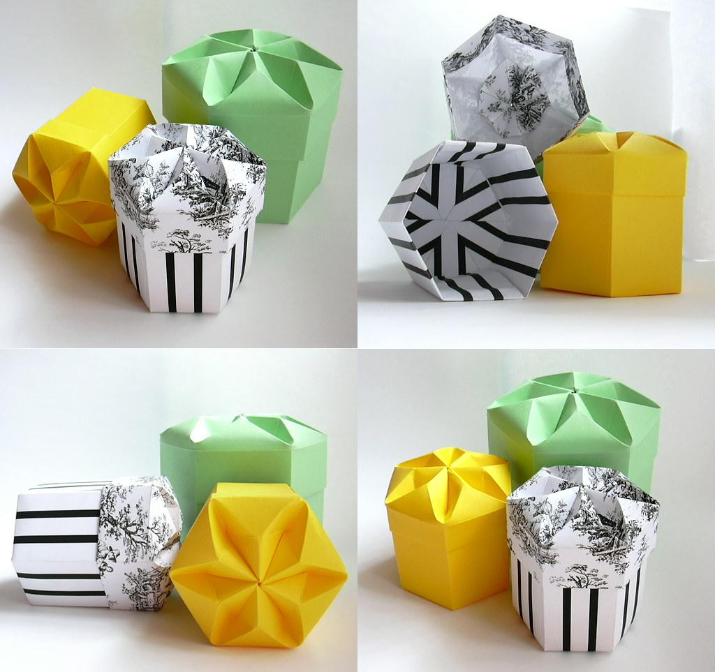 hight resolution of  hexagonal boxes tomoko fuse by dahlia k