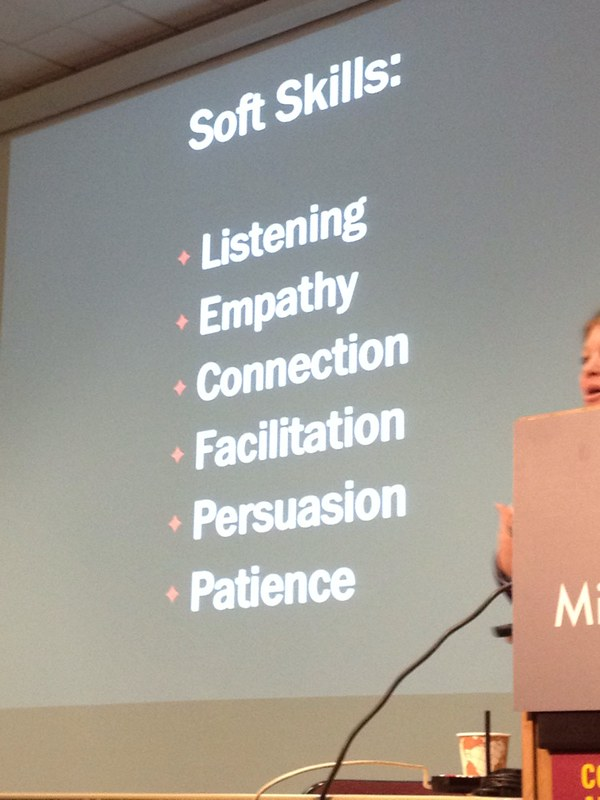 Important soft skills outlined by @whitneyhess