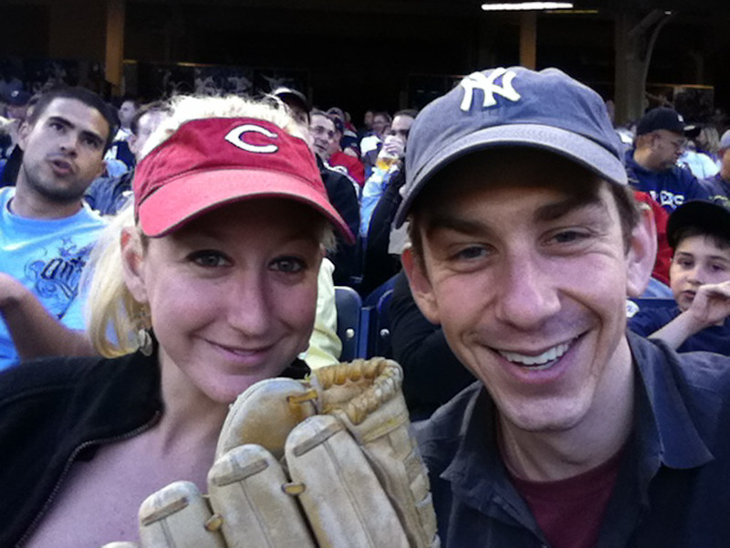 Yankees vs Reds with JIll
