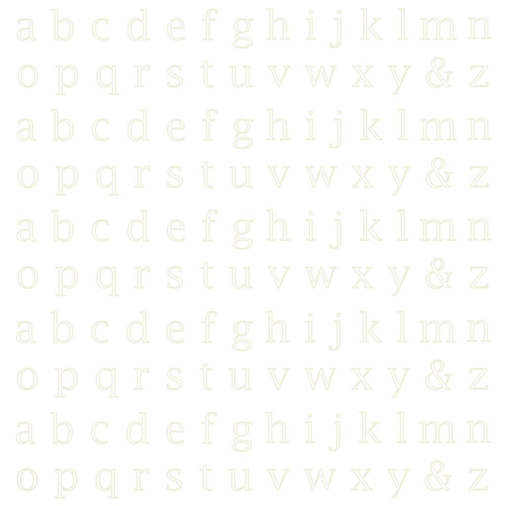 19 Barely There Cream Neutral Lowercase Alphabet Outline 1