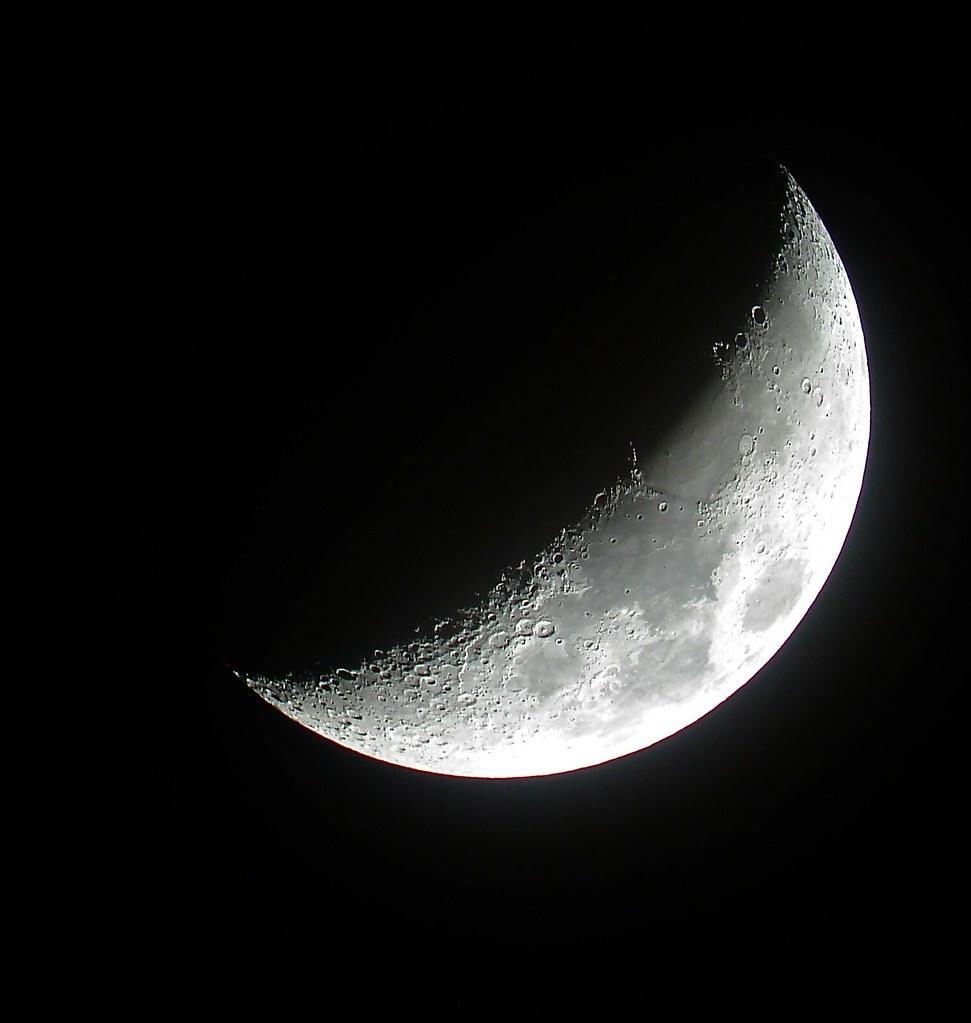 waxing crescent moon 5