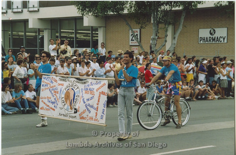 San Diego Lambda Pride Parade 1990: Contingent - 'San Diego AIDS Project/Project Life Guard'