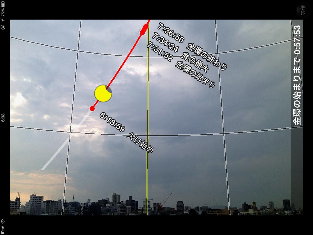- The Sky on X-Day   日食が始まった頃の空模様。 起床してからこの頃までは雲も厚く,世紀の日食観察は…   Flickr