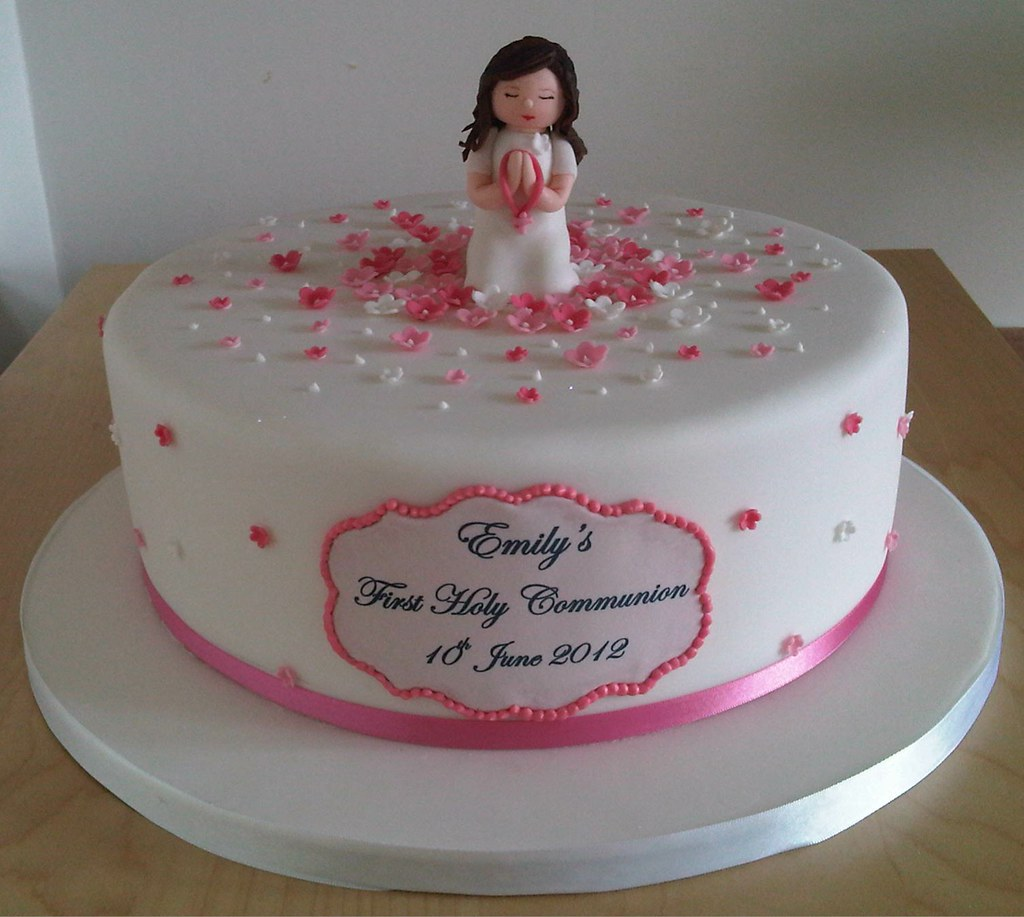 First Holy Communion Cake Girl Handmade Figure Topper An Flickr