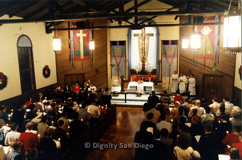 P103.019m.r.t Dignity San Diego, Christmas 1988: Whole church congregation