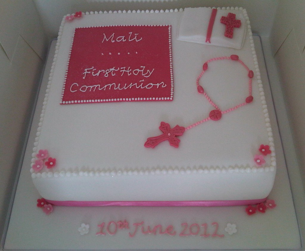First Holy Communion Cake Girl Repeat Design But Just As Flickr