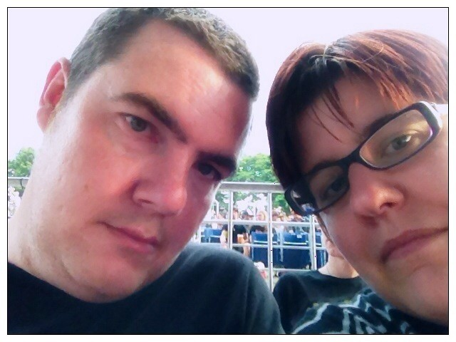 Sean and I waiting for Iron Maiden