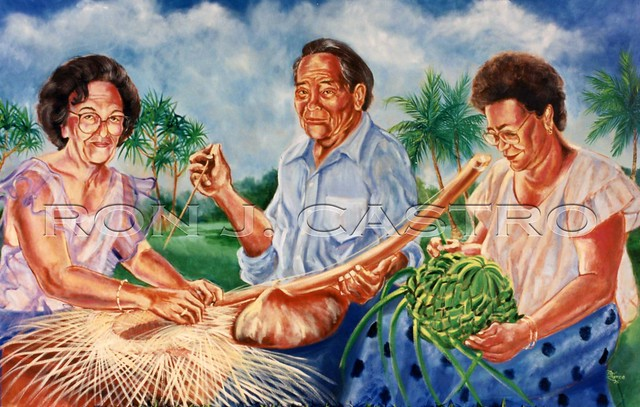 Three Masters Painting by Ron J. Castro