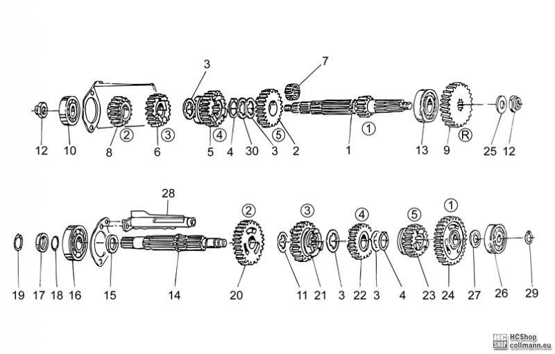 Foto Nr. 1: Moto Guzzi Schaltgetriebe V7 Classic 750 Ersat
