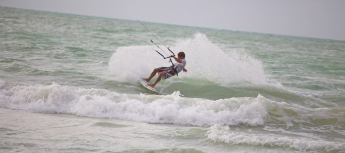 Kite and surfboard!