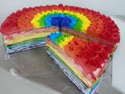 Rainbow Milie Crepe