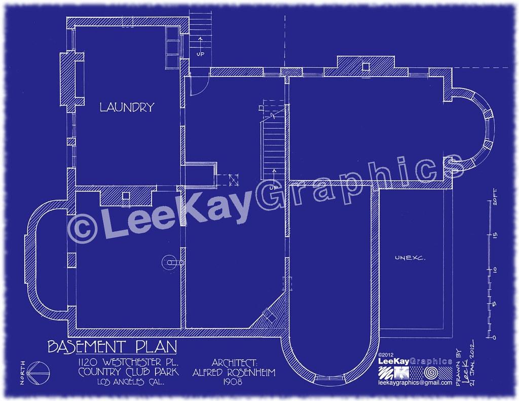 hight resolution of  1120 westchester pl basement plan by leekaygraphics