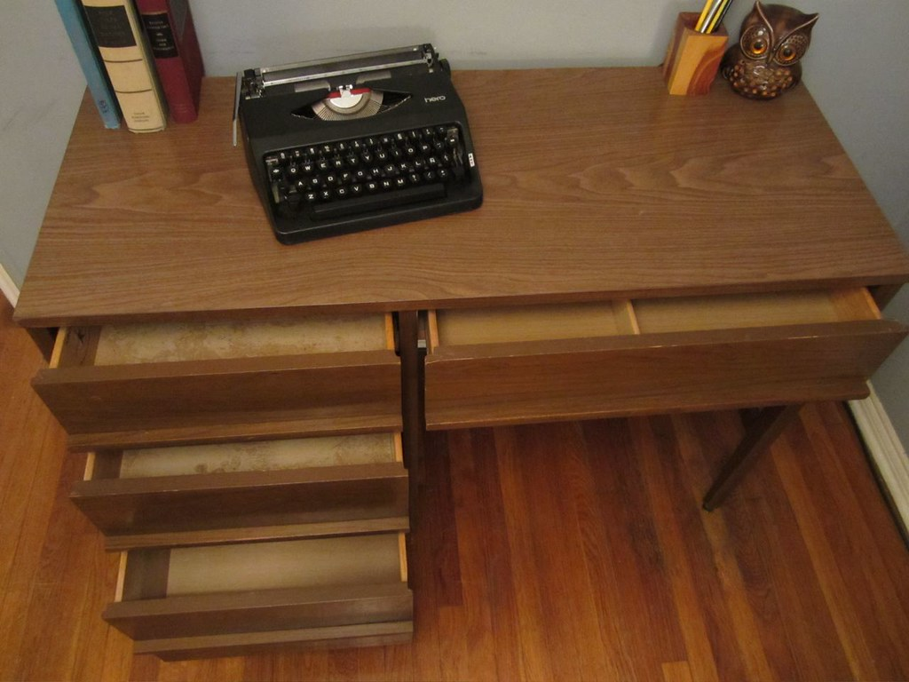 mid century kroehler desk
