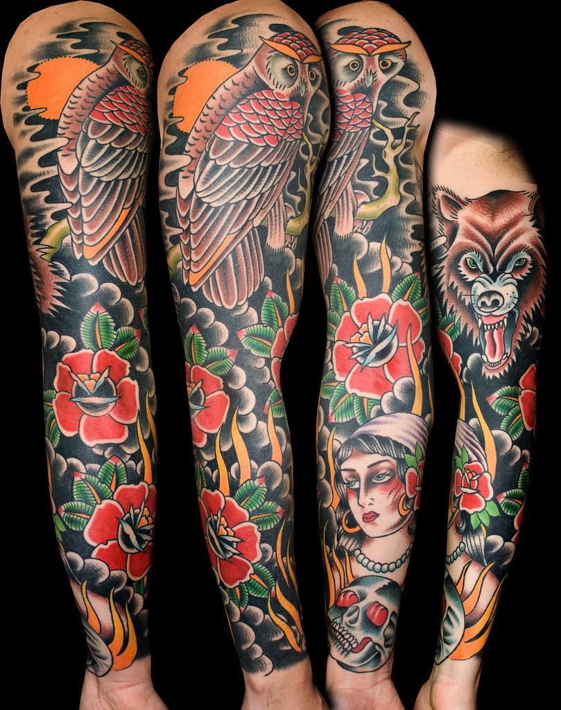 Owl Sleeve Tattoo : sleeve, tattoo, Sleeve, Tattoo, Chambers, Tattoos, Flickr