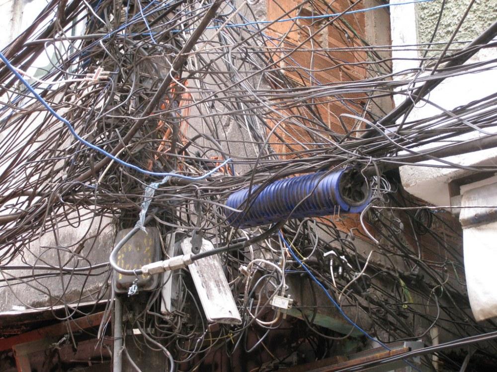 medium resolution of crazy wiring in the favelas rio de janeiro