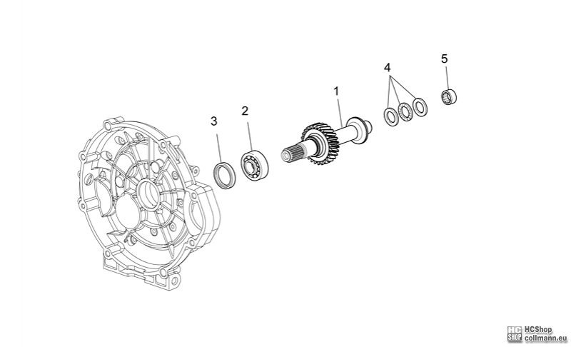 Foto Nr. 1: Moto Guzzi Kupplungwelle Griso V 8V 1200 Ersat