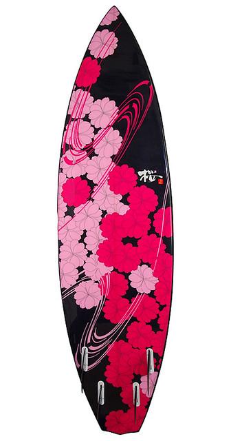 桜花爛漫(おうからん まん) 五 尺 十 寸 蝙蝠柄 裏面 OUKARANMAN 5'10 BatTail…   Flickr