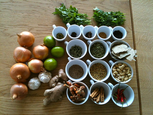 Spices, seasoning, herbs and vegetables