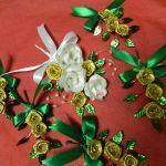 Green Gold Wedding Theme Groom S Corsage Family Bouton
