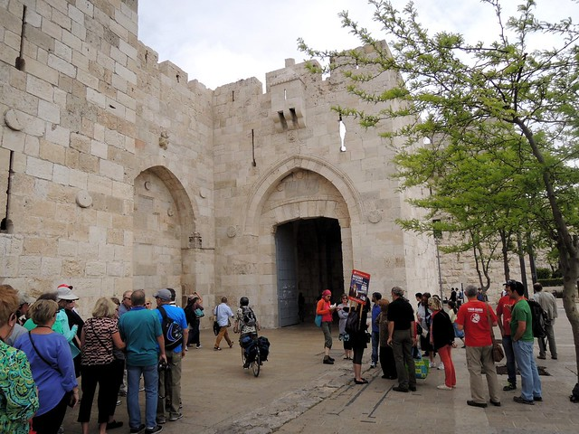 One of the entrances to the Old City, Yaffa Gate by bryandkeith on flickr